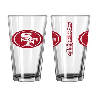 San Francisco 49ers Game Day Pint Glass 2-Pack