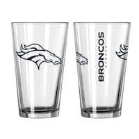 Denver Broncos Game Day Pint Glass 2-Pack