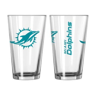 Miami Dolphins Game Day Pint Glass 2-Pack