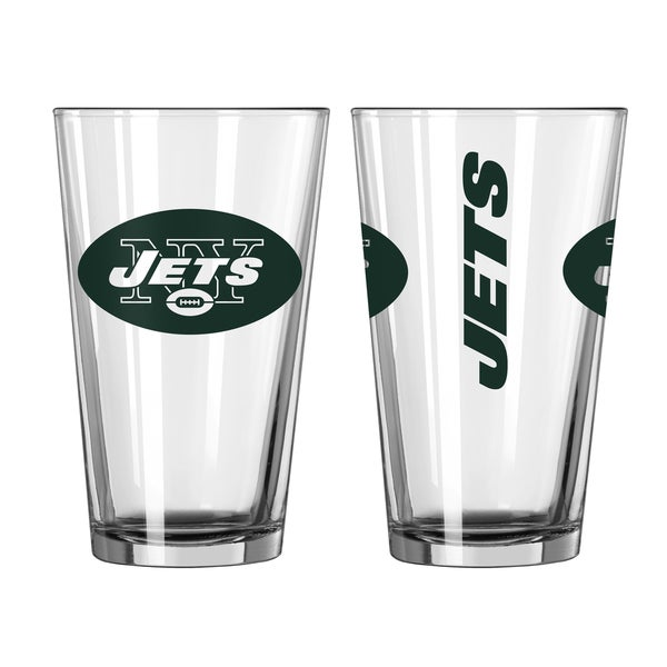 New York Jets Game Day Pint Glass 2-Pack