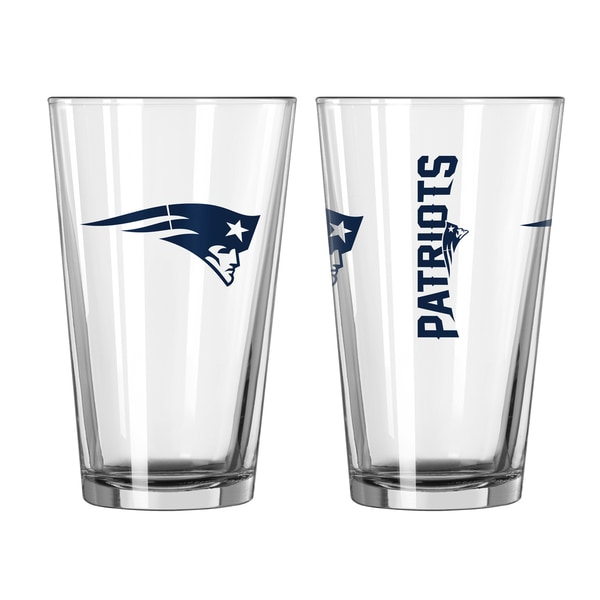 New England Patriots Game Day Pint Glass 2-Pack
