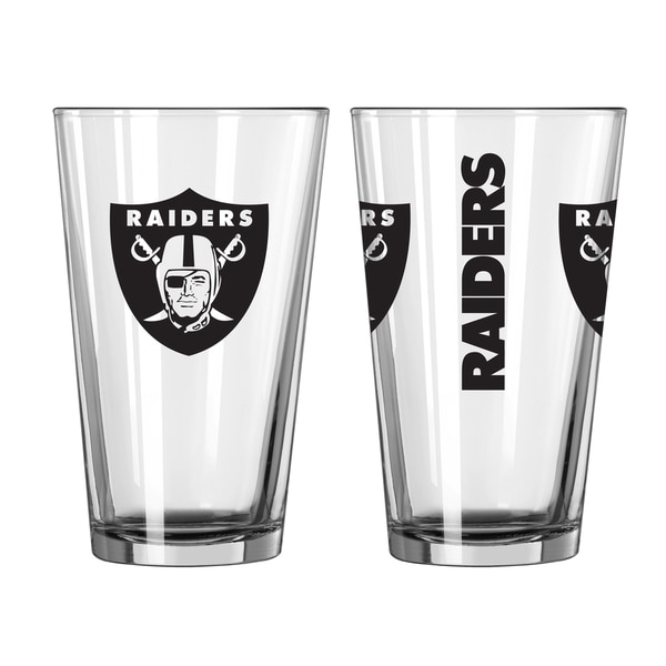 Oakland Raiders Game Day Pint Glass 2-Pack