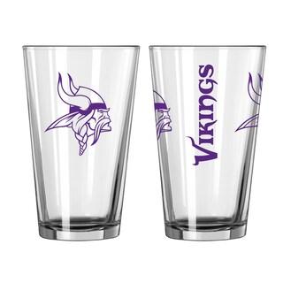 Minnesota Vikings Game Day Pint Glass 2-Pack