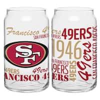 San Francisco 49ers 16-Ounce Glass Spirit Glass Set