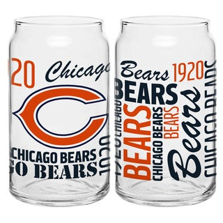 Chicago Bears 16-Ounce Glass Spirit Glass Set