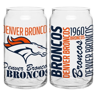 Denver Broncos 16-Ounce Glass Spirit Glass Set