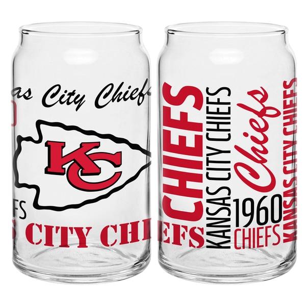 Kansas City Chiefs 16-Ounce Glass Spirit Glass Set