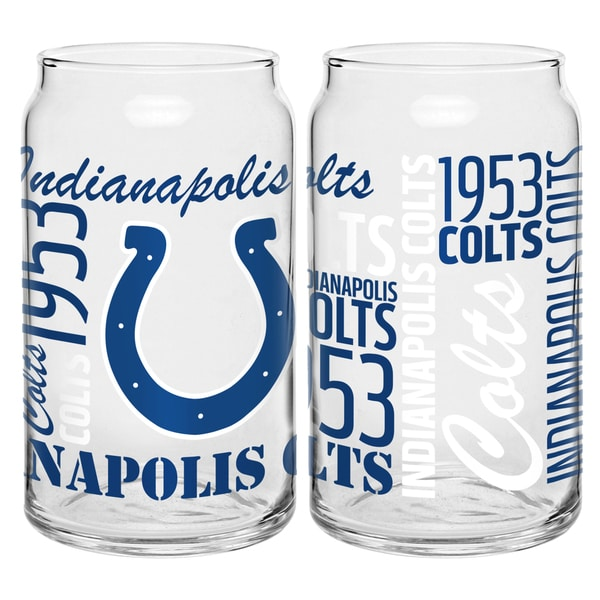 Indianapolis Colts 16-Ounce Glass Spirit Glass Set