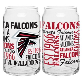 Atlanta Falcons 16-Ounce Glass Spirit Glass Set