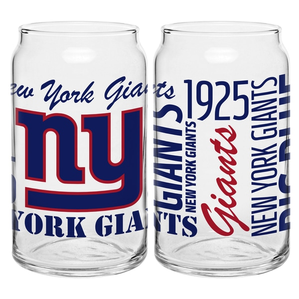 New York Giants 16-Ounce Glass Spirit Glass Set