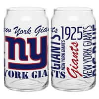 New York Giants 16-Ounce Glass Spirit Glass Set