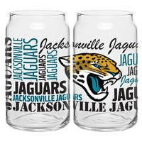 Jacksonville Jaguars 16-Ounce Glass Spirit Glass Set
