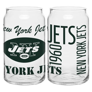 New York Jets 16-Ounce Glass Spirit Glass Set