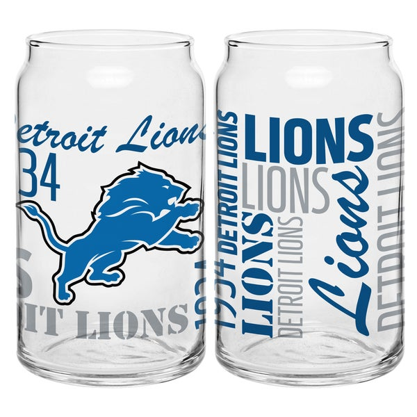 Detroit Lions 16-Ounce Glass Spirit Glass Set