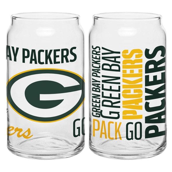 Green Bay Packers 16-Ounce Glass Spirit Glass Set