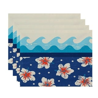 Hang Ten Floral Print Placemats (Set of 4)