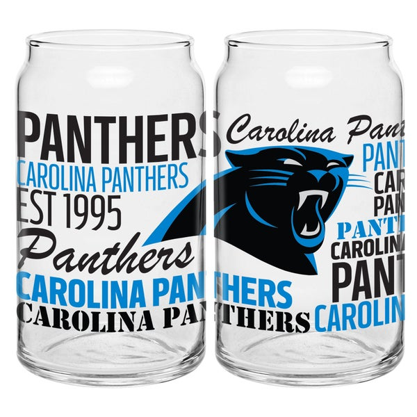 Carolina Panthers 16-Ounce Glass Spirit Glass Set