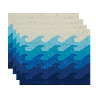 Deep Sea Geometric Print Placemats (Set of 4)