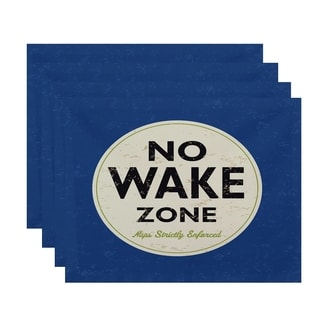 Nap Zone Word Print Placemats (Set of 4)