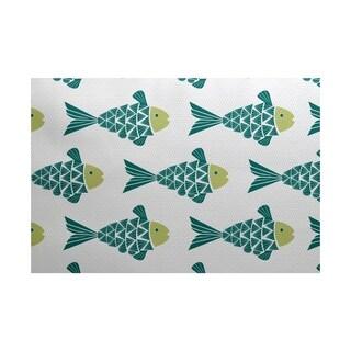 Fish Tales Animal Print Rug (2' x 3')