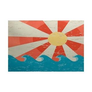Sunbeams Geometric Print Rug (2' x 3')