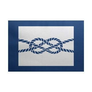 Nautical Knot Geometric Print Rug (2' x 3')