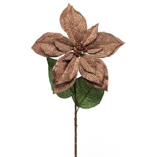 Fleur Collection 22-inch Poinsettia Stem (Pack of 12)
