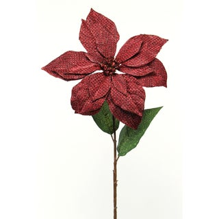 Fleur Collection 26-inch Poinsettia Stem (Pack of 12)