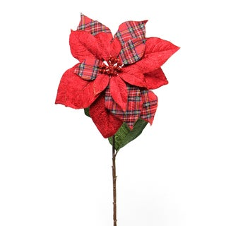 Fleur Collection 5-inch Poinsettia Stem (Pack of 12)