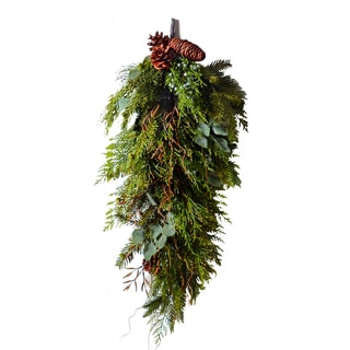 Holiday Collection 16-inch Cedar and Juniper Door Swag (Pack of 1)