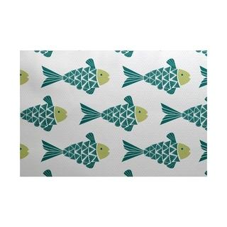 Fish Tales Animal Print Rug (3' x 5')