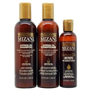 Mizani Supreme Oil Shampoo, Conditioner, and Supreme Oil Treatment Set (Set of 3)