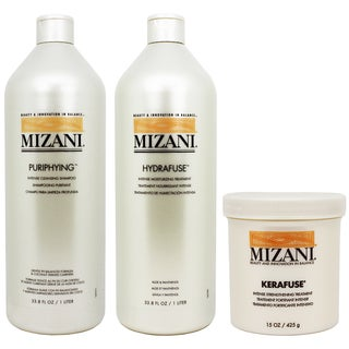 Mizani Purifying Shampoo, Hydrafuse Treatment, and Karafuse Treatment (Set of 3)