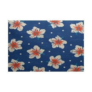 Hibiscus Blooms Floral Print Rug (4' x 6')