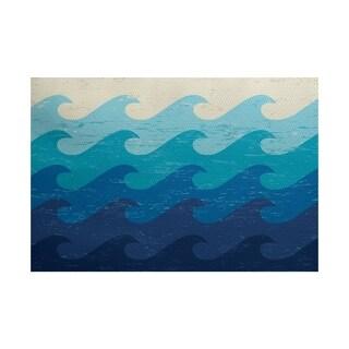 Deep Sea Geometric Print Rug (3' x 5')