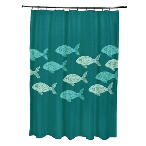 Fish Line Animal Print Shower Curtain