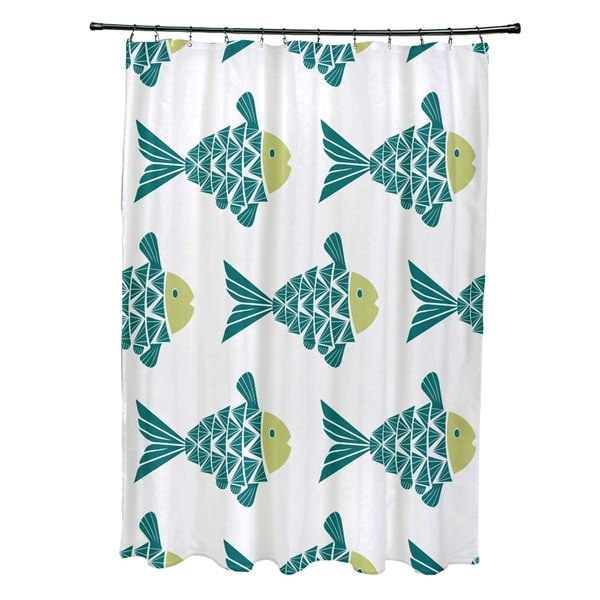 Fish Tales Animal Print Shower Curtain