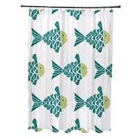 Fish Tales Animal Print Shower Curtain