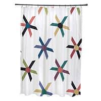 Pinwheel Pop Geometric Print Shower Curtain