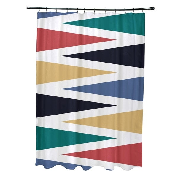 Backgammon Geometric Print Shower Curtain