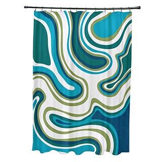 Agate Geometric Print Shower Curtain