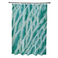Shibori Stripe Geometric Print Shower Curtain