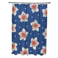 Hibiscus Blooms Floral Print Shower Curtain