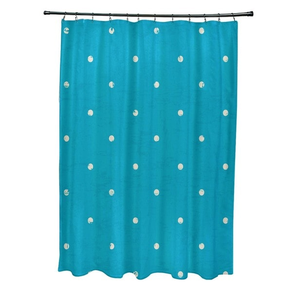 Dorothy Dot Geometric Print Shower Curtain