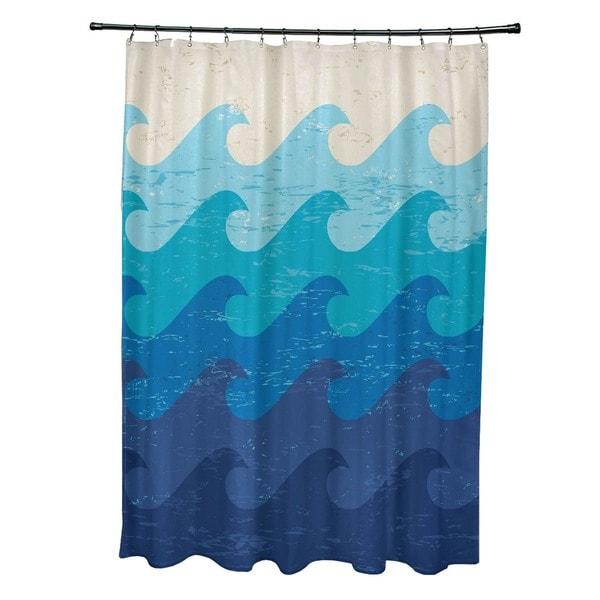 Deep Sea Geometric Print Shower Curtain