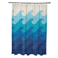 Deep Sea Geometric Print Shower Curtain