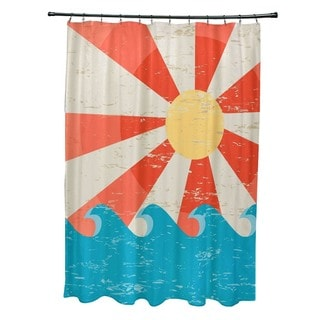 Sunbeams Geometric Print Shower Curtain