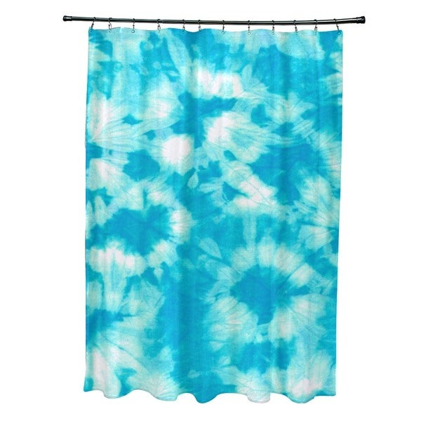 Chillax Geometric Print Shower Curtain
