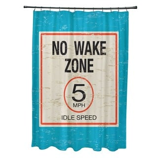 No Wake Word Print Shower Curtain