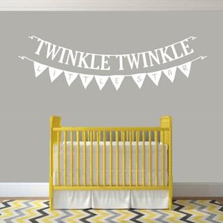 Twinkle Twinkle Little Star 48-inch x 16-inch Nursery Wall Decal